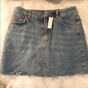 NEW Topshop Jean Skirt